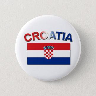 Croatian Flag 2 6 Cm Round Badge