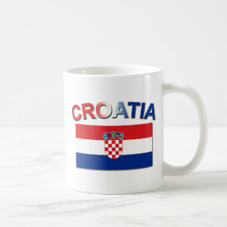 Croatian Flag 2 Basic White Mug