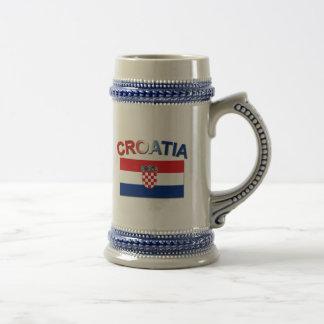 Croatian Flag 2 Beer Steins