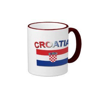 Croatian Flag 2 Ringer Mug