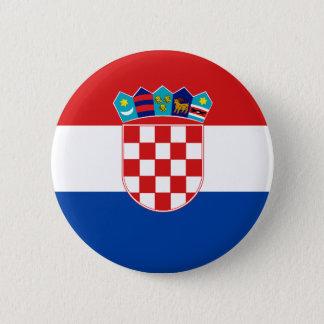 Croatian Flag 6 Cm Round Badge