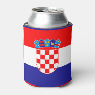 Croatian flag can cooler