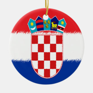 Croatian Flag Christmas Ornament