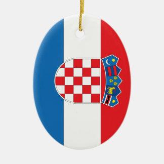 Croatian Flag Christmas Ornament