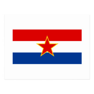 Croatian flag, hrvatska zastava postcard
