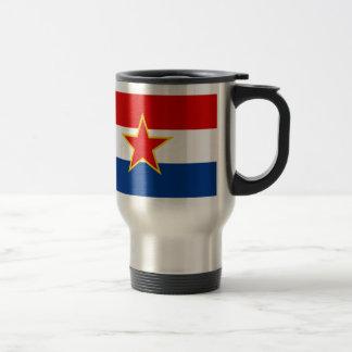 Croatian flag, hrvatska zastava stainless steel travel mug