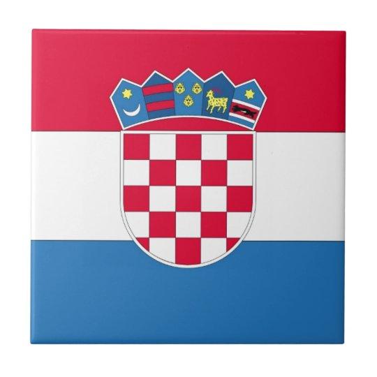 Croatian Flag or Flag of Croatia Small Square Tile