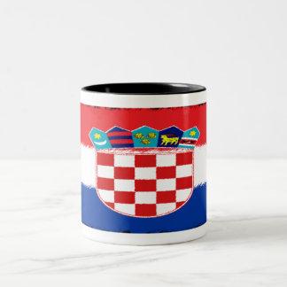 Croatian Flag Two-Tone Mug