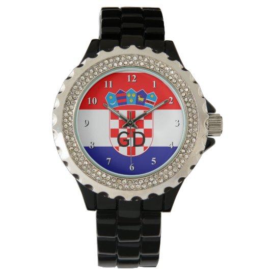 Croatian flag wrist watch for men and women