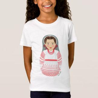Croatian Girl Matryoshka Girls Baby Doll (Fitted) T-Shirt