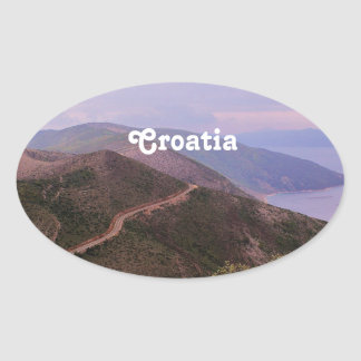 Croatian Landscape Oval Sticker