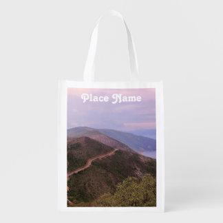 Croatian Landscape Grocery Bags