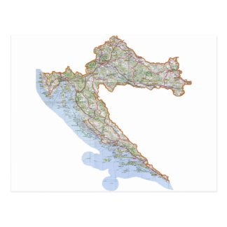 Croatian map postcard