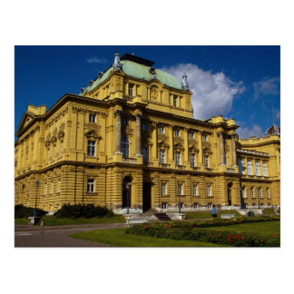 Croatian National Theater, Zagreb, Croatia Post Card