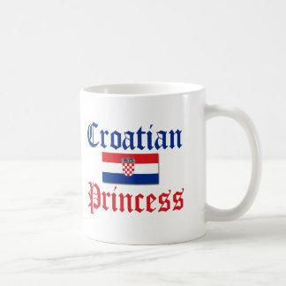 Croatian Princess 1 Basic White Mug