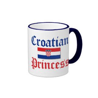 Croatian Princess 1 Ringer Mug
