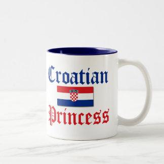 Croatian Princess 1 Two-Tone Mug