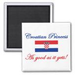 Croatian Princess Square Magnet