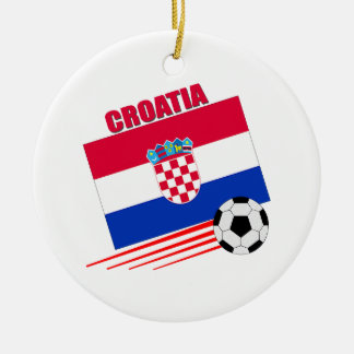 Croatian Soccer Team Christmas Ornament