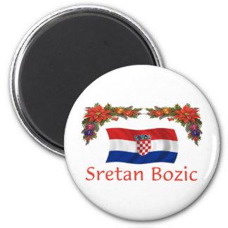 Croatian Sretan Bozic (Merry Christmas) Magnet