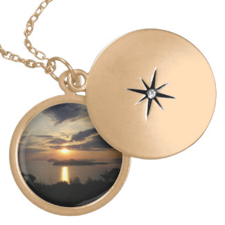 Croatian Sunset Gold Plated Necklace