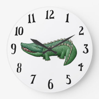 Croc O'Clock Large Clock