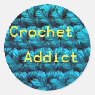 Crochet Addict Part2 Double Crochet Classic Round Sticker