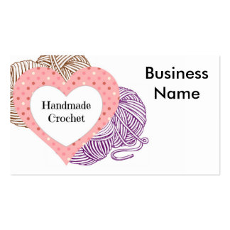 Crochet biz Card with yarns and Heart Shaped logo Pack Of Standard Business Cards