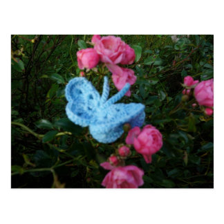 Crochet Butterfly Postcard