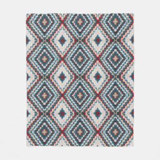 Crochet diamond pattern fleece blanket