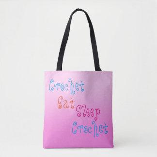 Crochet Eat Sleep Crochet - personalised project Tote Bag