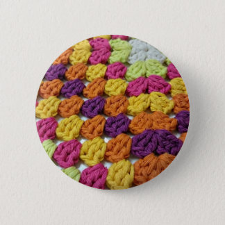 Crochet Granny Square 6 Cm Round Badge