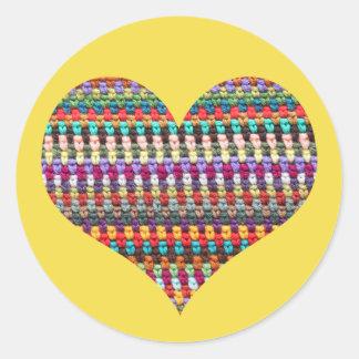 Crochet Heart Sticker - Crochet Sticker