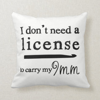 Crochet Hook License Crafts Cushion