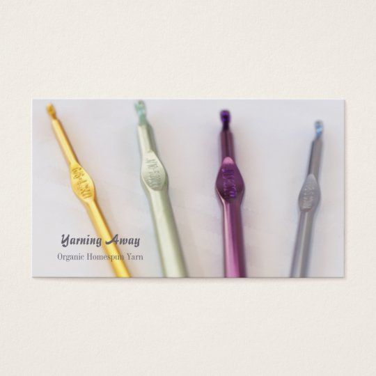 Crochet hooks photo customisable business cards