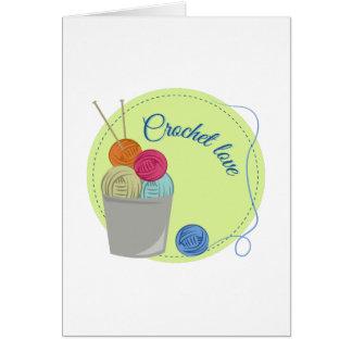 Crochet Love Greeting Card