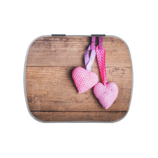 Crochet Lovely Hearts Jelly Belly Candy Tins