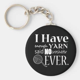 Crochet • Not Enough Yarn Crafts{Dark} Basic Round Button Key Ring
