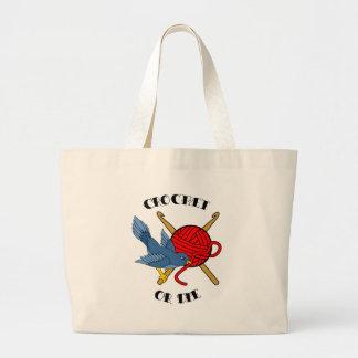 Crochet or Die Tattoo Canvas Bag