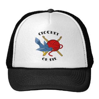 Crochet or Die Tattoo Trucker Hats