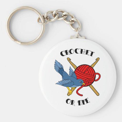 Crochet or Die Tattoo Keychains