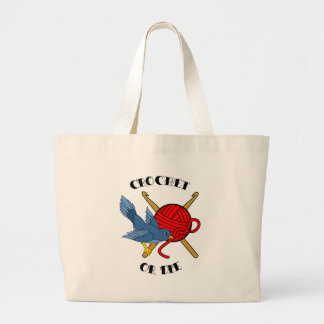 Crochet or Die Tattoo Large Tote Bag