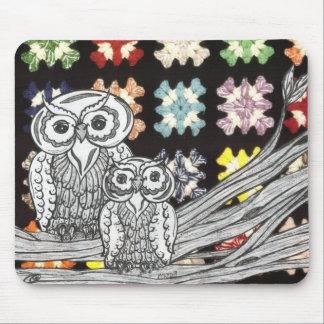 Crochet Owls Mouse Pad