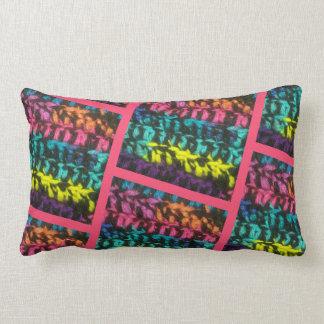 Crochet Print Lumbar Cushion