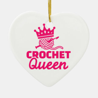 Crochet queen christmas ornament