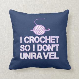 Crochet So I Don't Unravel Cushion