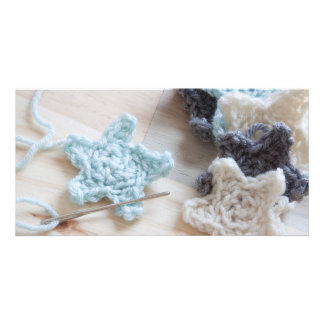 Crochet Stars Customised Photo Card