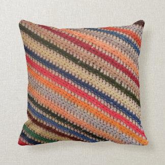 Crochet Stripes Cushion