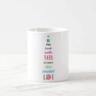 Crochet terms coffee mug