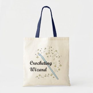 Crochet Wizard Tote Budget Tote Bag
